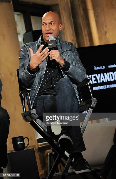 Keegan-Michael Key speaks during AOL's BUILD Series at AOL Studios In New York on October 10, 2014 in New York City.