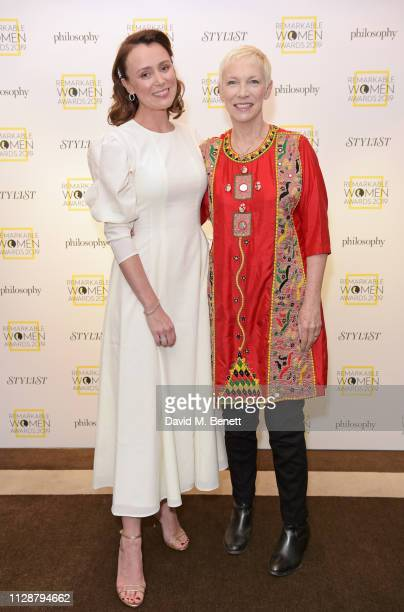 Keeley Hawes and Annie Lennox winner of The Icon Award attend Stylist's inaugural Remarkable Women Awards in partnership with philosophy at Rosewood...