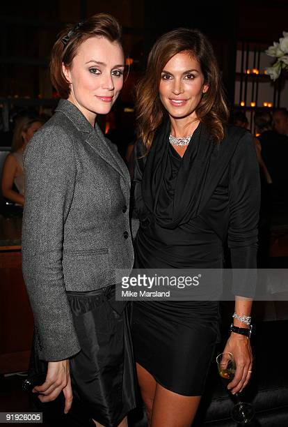 Keeley Hawes and Cindy Crawford attend the launch of the OMEGA Constellation 2009 collection on October 15 2009 in London England