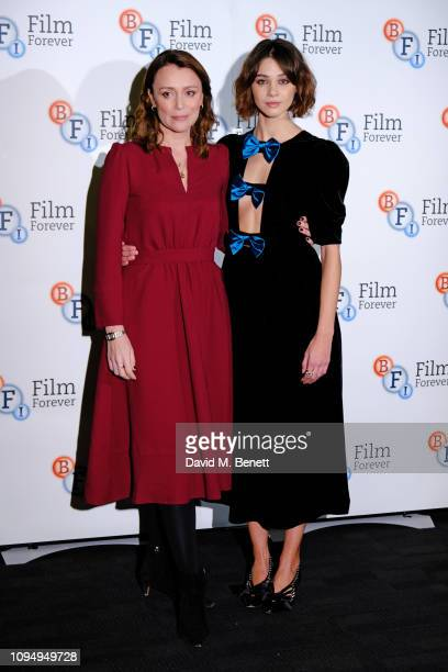 Keeley Hawes and Emma Appleton attend a photocall for new Channel 4 drama Traitors at the BFI Southbank on February 7 2019 in London England