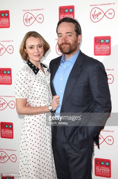 Keeley Hawes and Matthew MacFadyen attend the Broadcasting Press Guild Television Radio Awards at Theatre Royal on March 17 2017 in London England