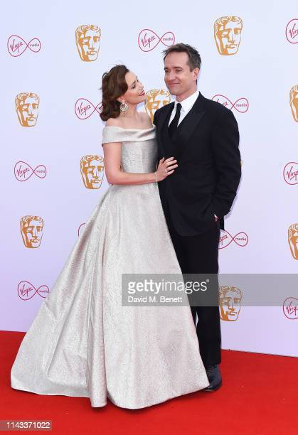 Keeley Hawes and Matthew MacFadyen attend the Virgin Media British Academy Television Awards at The Royal Festival Hall on May 12 2019 in London...