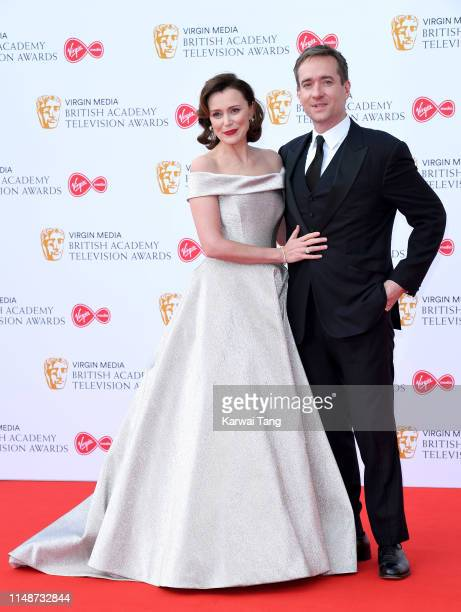 Keeley Hawes and Matthew Macfadyen attend the Virgin Media British Academy Television Awards 2019 at The Royal Festival Hall on May 12 2019 in London...