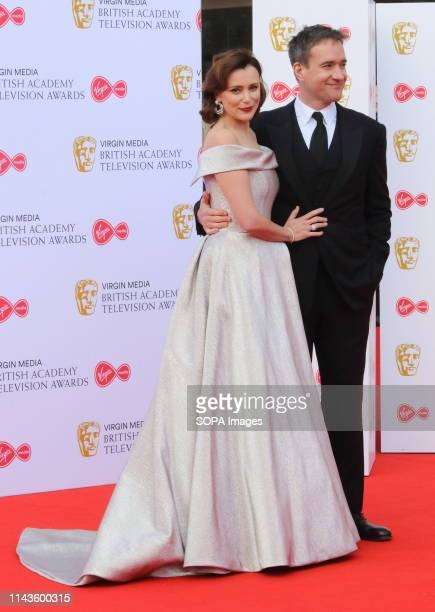 Keeley Hawes and Matthew McFadyen are seen on the red carpet during the Virgin Media BAFTA Television Awards 2019 at The Royal Festival Hall in London