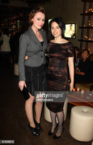 Keeley Hawes and Montserrat Lombard attend the launch of the OMEGA Constellation 2009 collection on October 15 2009 in London England