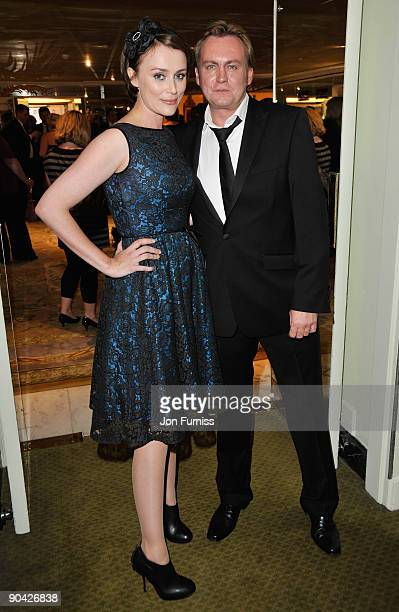 Keeley Hawes and Philip Glenister attend the TV Quick TV Choice Awards at The Dorchester on September 7 2009 in London England
