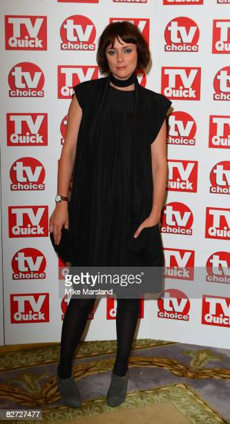 Keeley Hawes arrives at the TV Quick TV Choice Awards at The Dorchester on September 8 2008 in London England