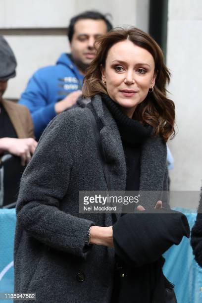 Keeley Hawes at BBC Radio 2 on March 15 2019 in London England
