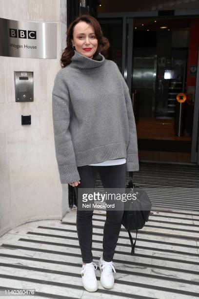Keeley Hawes at BBC Radio 2 studios on April 04 2019 in London England