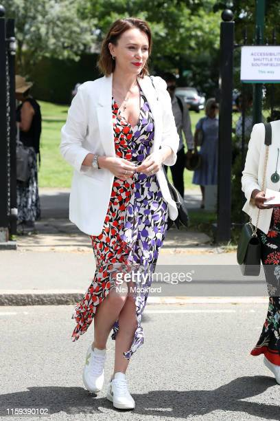 Keeley Hawes attends day one of the Wimbledon Tennis Championships at All England Lawn Tennis and Croquet Club on July 01 2019 in London England