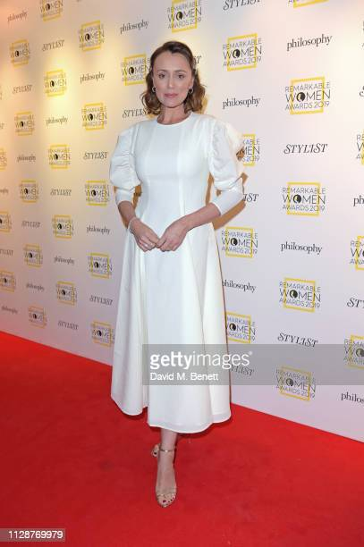 Keeley Hawes attends Stylist's inaugural Remarkable Women Awards in partnership with philosophy at Rosewood London on March 5 2019 in London England