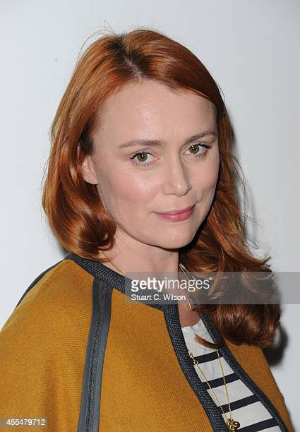 Keeley Hawes attends the Issa show during London Fashion Week Spring Summer 2015 at on September 15 2014 in London England