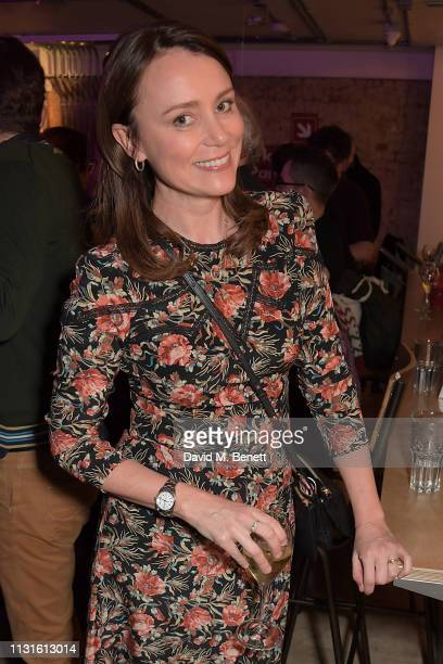 Keeley Hawes attends the press night after party for 'The Life I Lead' at The Park Theatre on March 19 2019 in London England
