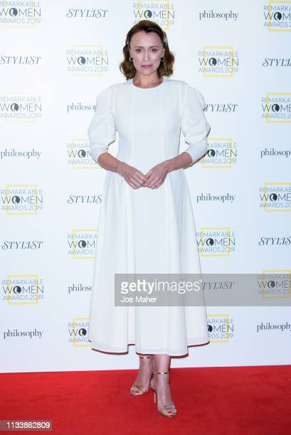 Keeley Hawes attends the Remarkable Women Awards at Rosewood London on March 05 2019 in London England