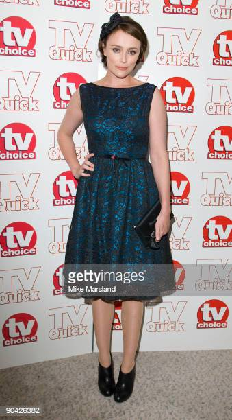 Keeley Hawes attends the TV Quick TV Choice Awards at the The Dorchester Hotel on September 7th 2009 in Manchester England