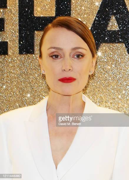 """Keeley Hawes attends the World Premiere of """"Misbehaviour"""" at The Ham Yard Hotel on March 09, 2020 in London, England."""