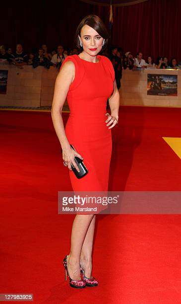 Keeley Hawes attends the world premiere of 'Three Musketeers in 3D' at Vue Westfield on October 4 2011 in London England