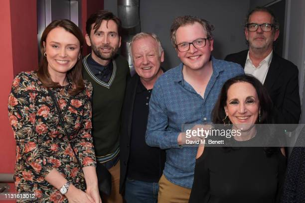Keeley Hawes David Tennant Les Dennis Miles Jupp Lesley Joseph and Henry Tomlinson attend the press night after party for 'The Life I Lead' at The...