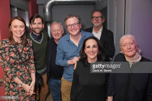 Keeley Hawes David Tennant Les Dennis Miles Jupp Lesley Joseph Henry Tomlinson and Audrey Freeman attend the press night after party for 'The Life I...