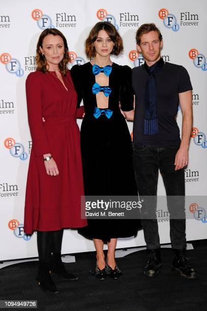 Keeley Hawes Emma Appleton and Luke Treadaway attend a photocall for new Channel 4 drama Traitors at the BFI Southbank on February 7 2019 in London...
