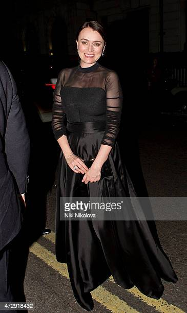Keeley Hawes is seen arriving at the Grosvenor hotel Park Lane on May 10 2015 in London England