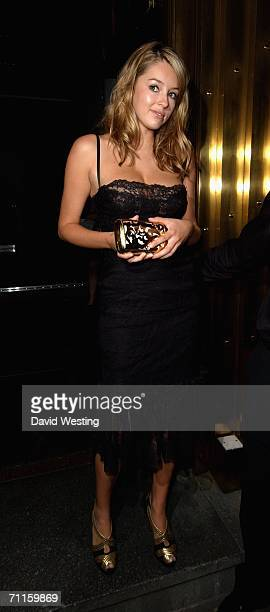 Keeley Hazell attends The Arena Magazine Awards at Benares Bar and Restaurant on June 8 2006 in London England