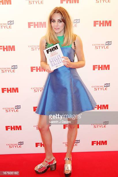 Keeley Hazell attends The FHM 100 Sexiest Women In The World 2013 Launch Party at the Sanderson Hotel on May 1 2013 in London England Photo by Gareth...