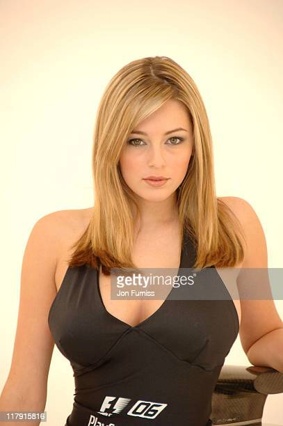 Keeley Hazell during Keeley Hazell The New Face of Formula One 2006 – Photocall at Plough Studios in London Great Britain
