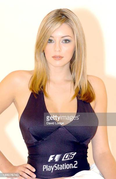 Keeley Hazell during Keeley Hazell The New Face of Formula One 2006 – Photocall June 1 2006 at Plough Studios in London Great Britain