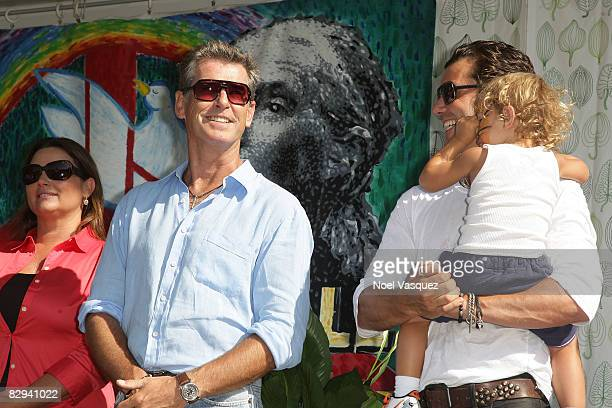 Keeley Shaye Smith Pierce Brosnan Gavin Rossdale and Keeley Shaye Smith attend Jane Goodall's 6th Annual Roots Shoots Day of Peace at Griffith Park...
