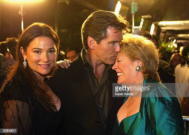 Keely and Pierce Brosnan with Evelyn Doyle at the premiere of Evelyn at the Academy of Motion Pictures Arts and Sciences in Beverly Hills Ca Tuesday...