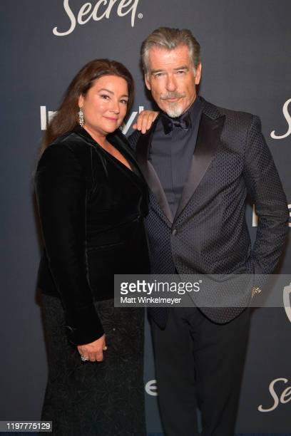Keely Brosnan and Pierce Brosnan attend The 2020 InStyle And Warner Bros 77th Annual Golden Globe Awards PostParty at The Beverly Hilton Hotel on...