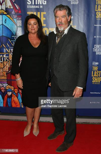 Keely Brosnan Pierce Brosnan attend the The Last Ship Opening Night Performance held at Ahmanson Theatre on January 22 2020 in Los Angeles California