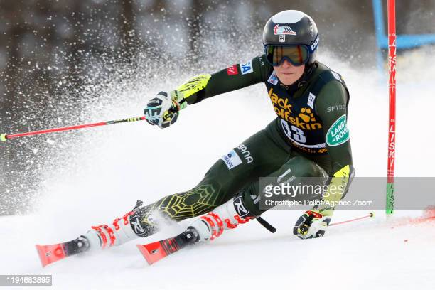 Keely Cashman of USA in action during the Audi FIS Alpine Ski World Cup Women's Parallel Slalom on January 19, 2020 in Sestriere Italy.