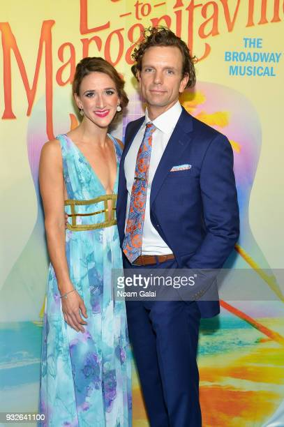 Keely Hutton and Paul Alexander Nolan attend the Broadway premiere of 'Escape to Margaritaville' the new musical featuring songs by Jimmy Buffett at...