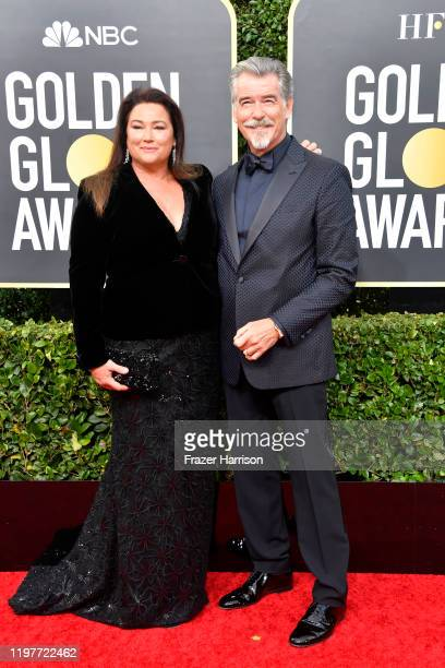 Keely Shaye Brosnan and Pierce Brosnan attend the 77th Annual Golden Globe Awards at The Beverly Hilton Hotel on January 05 2020 in Beverly Hills...