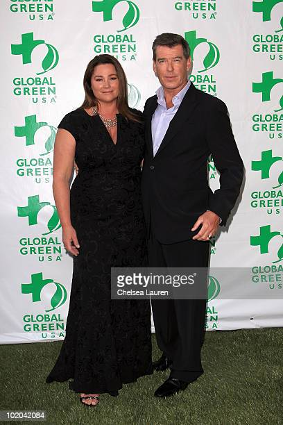 Keely Shaye Smith and actor Pierce Brosnan arrive at Global Green USA's 14th Annual Millennium Awards at Fairmont Miramar Hotel on June 12 2010 in...