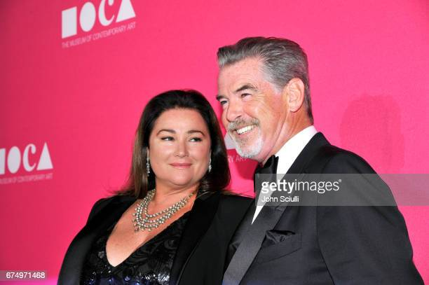 Keely Shaye Smith and actor Pierce Brosnan at the MOCA Gala 2017 honoring Jeff Koons at The Geffen Contemporary at MOCA on April 29, 2017 in Los...