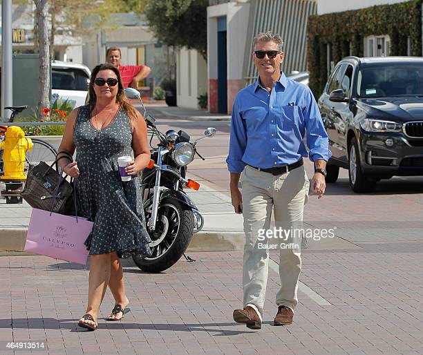 Keely Shaye Smith and Pierce Brosnan are seen in Malibu on March 01 2015 in Los Angeles California