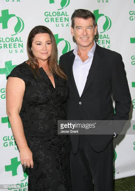 Keely Shaye Smith and Pierce Brosnan arrive at Global Green USA's 14th Annual Millennium Awards at the Fairmont Miramar Hotel on June 12 2010 in...