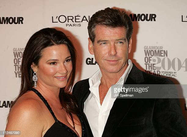 Keely Shaye Smith and Pierce Brosnan during 15th Annual Glamour Women of the Year Awards Arrivals at American Museum of Natural History in New York...