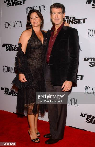 Keely Shaye Smith and Pierce Brosnan during After the Sunset Los Angeles Premiere Arrivals at Grauman's Chinese Theater in Hollywood California...