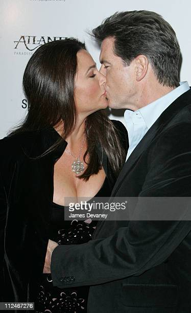 Keely Shaye Smith and Pierce Brosnan during After The Sunset New York Premiere Outside Arrivals at Ziegfeld Theater in New York City New York United...