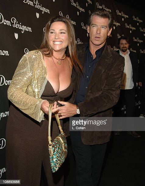 Keely Shaye Smith and Pierce Brosnan during Dom Perignon Karl Lagerfeld and Eva Herzigova Host an International Launch Event to Unveil the New Image...
