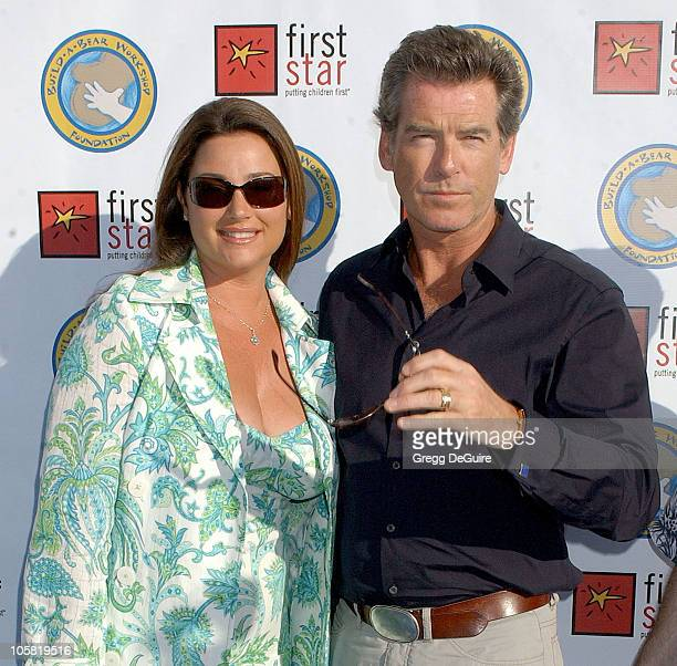 Keely Shaye Smith and Pierce Brosnan during First Star's Celebration For Children's Rights Benefit at Santa Monica Barker Hanger in Santa Monica...