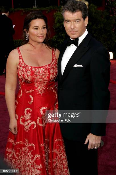 Keely Shaye Smith and Pierce Brosnan during The 77th Annual Academy Awards Arrivals at Kodak Theatre in Los Angeles California United States