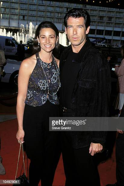 Keely Shaye Smith Pierce Brosnan during Desperado Premiere at Loews Cineplex Century Plaza in Los Angeles California United States
