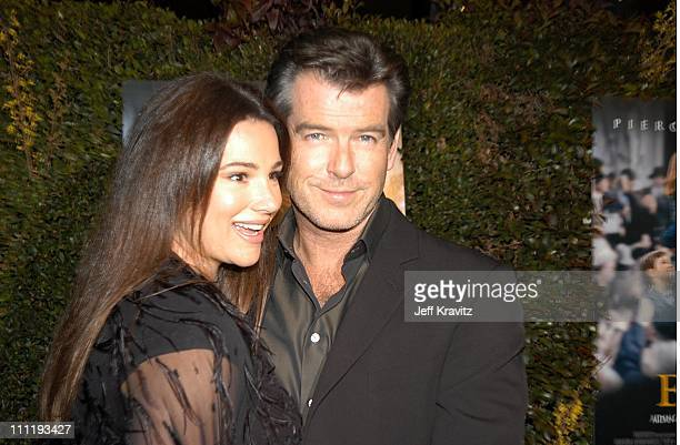 Keely Shaye Smith Pierce Brosnan during US Presents Evelyn at Academy of Motion Pictures Arts Sciences in Beverly Hills CA United States