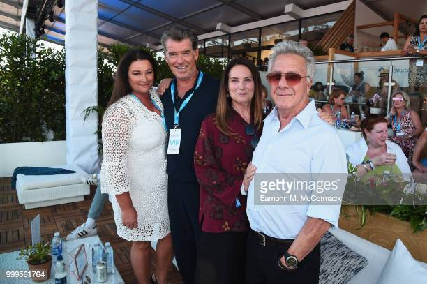 Keely Shaye Smith Pierce Brosnan Lisa Hoffman and Dustin Hoffman attend as Barclaycard present British Summer Time Hyde Park at Hyde Park on July 15...
