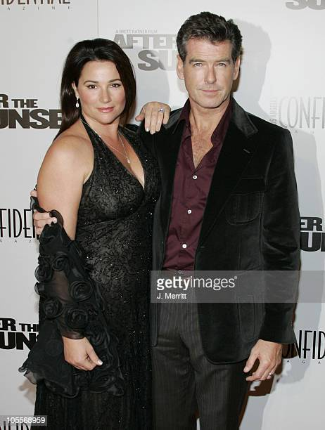 Keely ShayeSmith and Pierce Brosnan during After The Sunset Los Angeles Premiere Arrivals at Chinese Theatre in Hollywood California United States